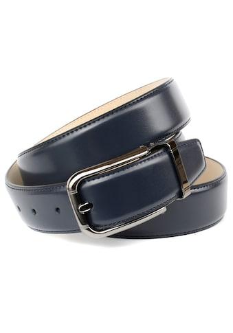 Anthoni Crown Ledergürtel, mit schwarzer Dornschliesse kaufen