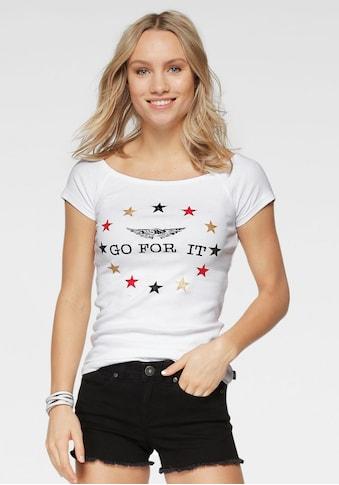 Arizona Carmenshirt »EM - Fanshirt: GO FOR IT«, variabel tragbar kaufen