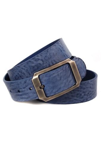 Anthoni Crown Ledergürtel, Vollledergürtel mit Schliesse in schwarz-Metallic kaufen
