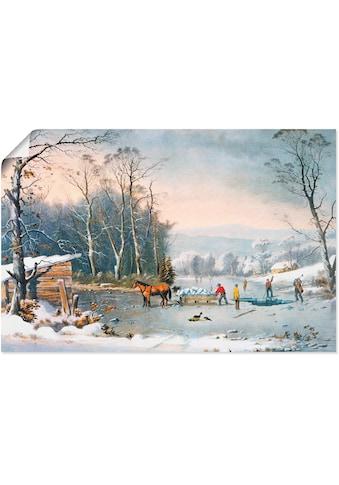 Artland Wandbild »Winterlandschaft«, Vier Jahreszeiten, (1 St.), in vielen Grössen &... kaufen