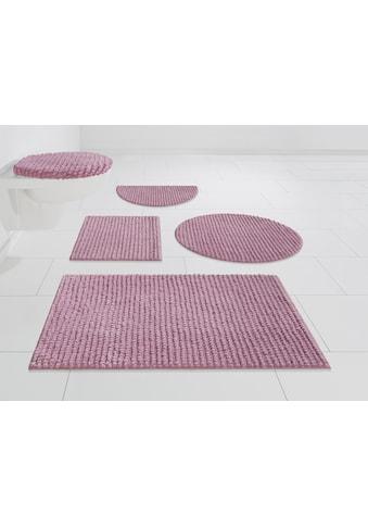 andas Badematte »Renat«, Höhe 15 mm, Badteppich, Badgarnitur, Badezimmerteppich in Pastell, waschbar, geeignet für Fussbodenheizung, schnell trocknend kaufen