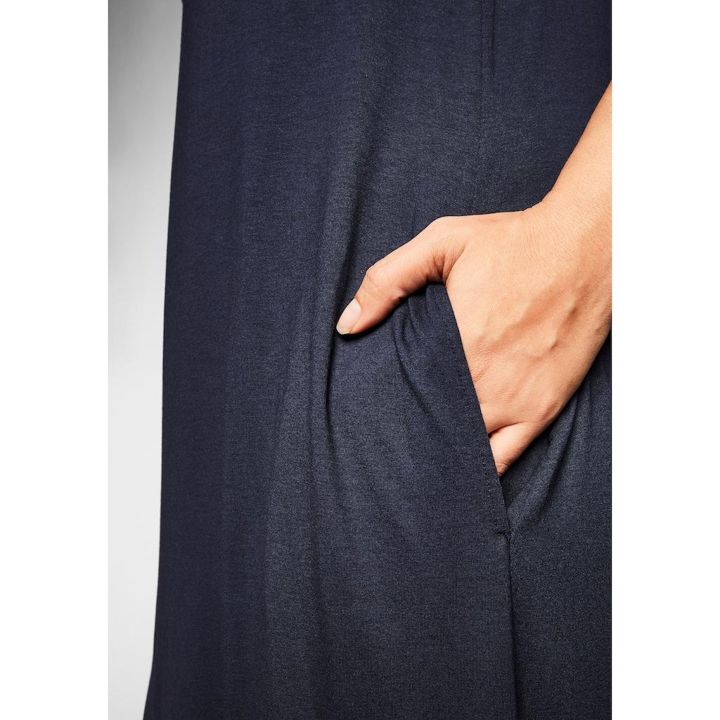 Sheego Strandkleid, mit Taschen, im Vokuhilaschnitt