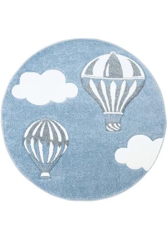 Carpet City Kinderteppich »Bueno Kids 1456«, rund, 13 mm Höhe, Heissluftballon,... kaufen