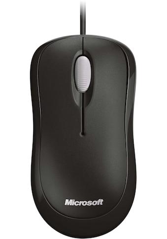 Microsoft »Basic Optical« ergonomische Maus (kabelgebunden, 800 dpi) kaufen