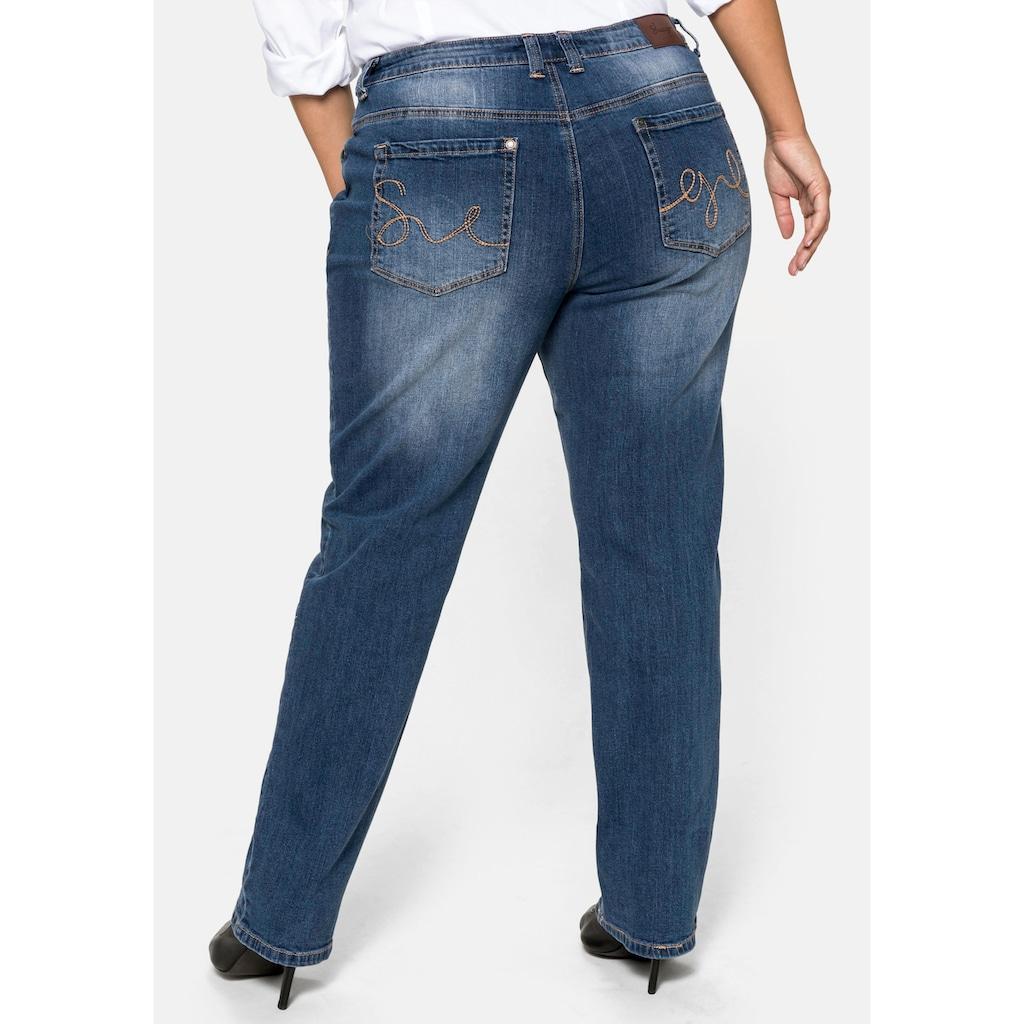 Sheego Stretch-Jeans, Bauch-weg-Effekt