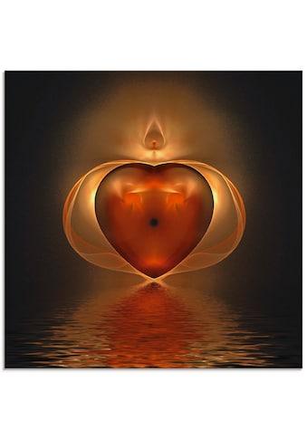 Artland Glasbild »Herz«, Herzen, (1 St.) kaufen