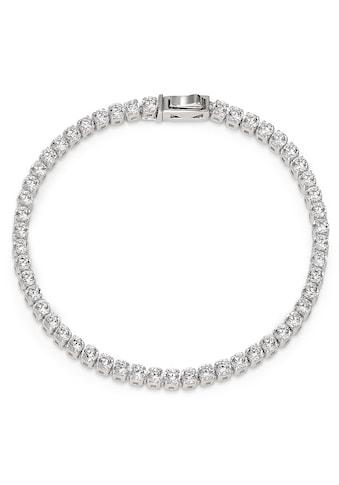 Armband Silberfarben Zirkonia rhodiniert 18 cm kaufen