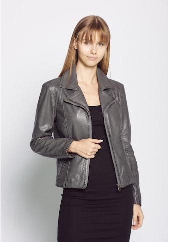 JCC Lederjacke »Erijona«, mit Ziernähten und Hemdkragen kaufen