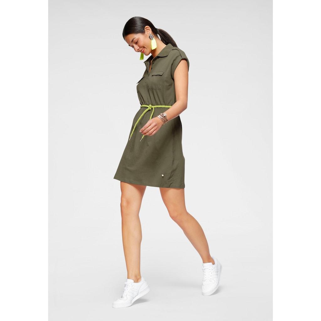 AJC Jerseykleid, im Utility-Stil mit Bindegürtel