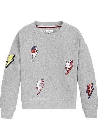TOMMY HILFIGER Sweatshirt, mit Pailletten-Blitze kaufen