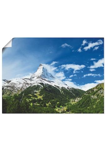 Artland Wandbild »Matterhorn«, Berge, (1 St.), in vielen Grössen & Produktarten... kaufen