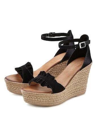 LASCANA Sandalette, aus Leder mit Keilabsatz kaufen