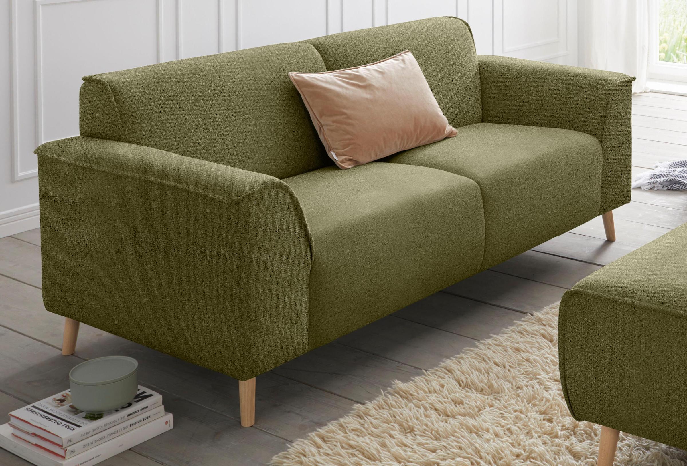 Image of andas 2,5-Sitzer »Janek«, mit Federkern und Keder in scandinavischem Design