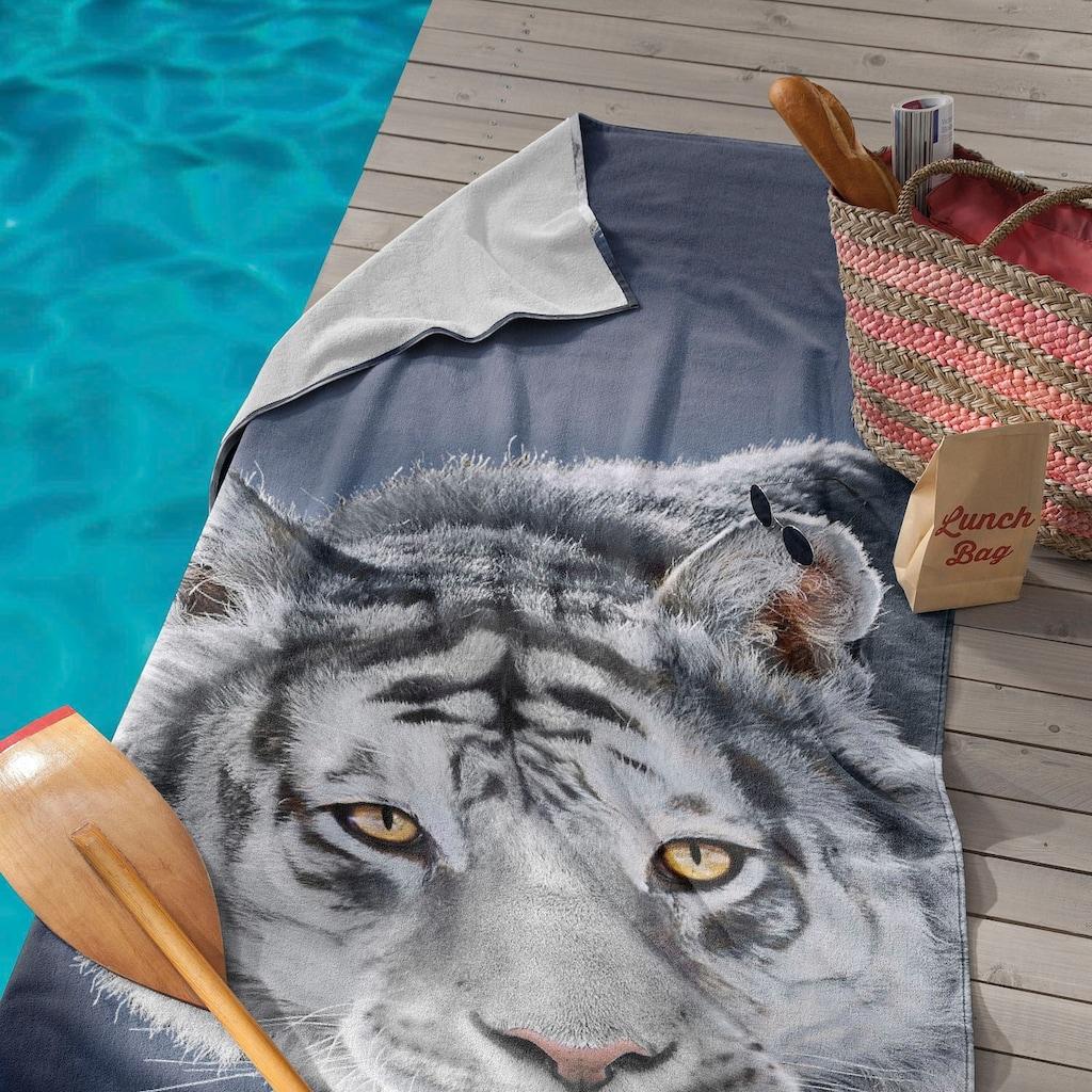 Seahorse Strandtuch »Blaze«, (1 St.), mit weissem Tiger Aufdruck