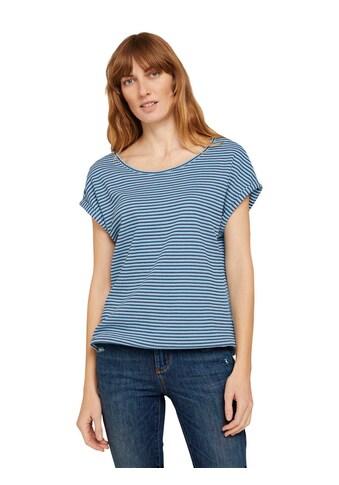 TOM TAILOR T-Shirt, mit modischer Muster-Struktur kaufen