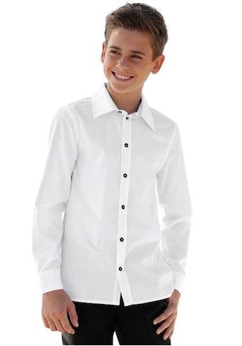 Arizona Langarmhemd, mit kontrastfarbenem Kragensteg kaufen