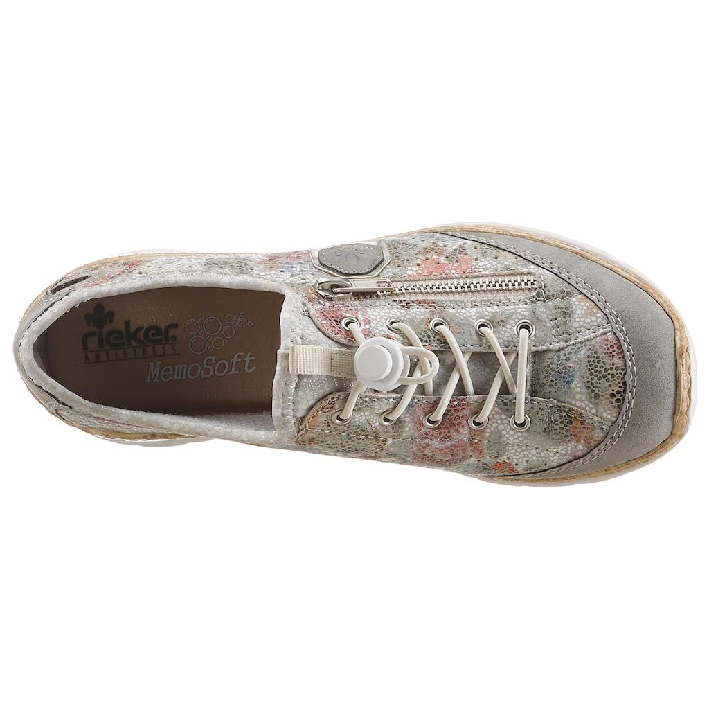 Rieker Slip-On Sneaker, mit Aussenreissverschluss