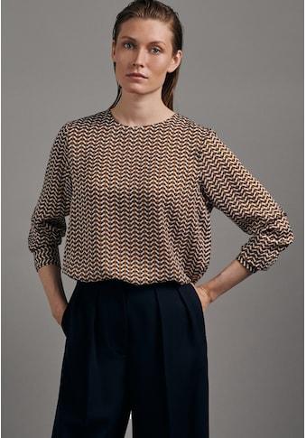 seidensticker Shirtbluse »Schwarze Rose«, Langarm Rundhals Druck kaufen