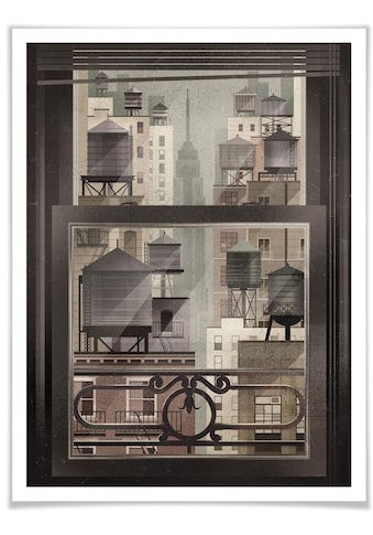 Wall-Art Poster »NYC Watertowers«, New York, (1 St.), Poster, Wandbild, Bild, Wandposter kaufen