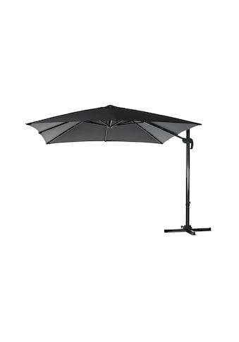 Sonnenschirm »300 x 300 cm, Aluminium, hängend, Grau« kaufen