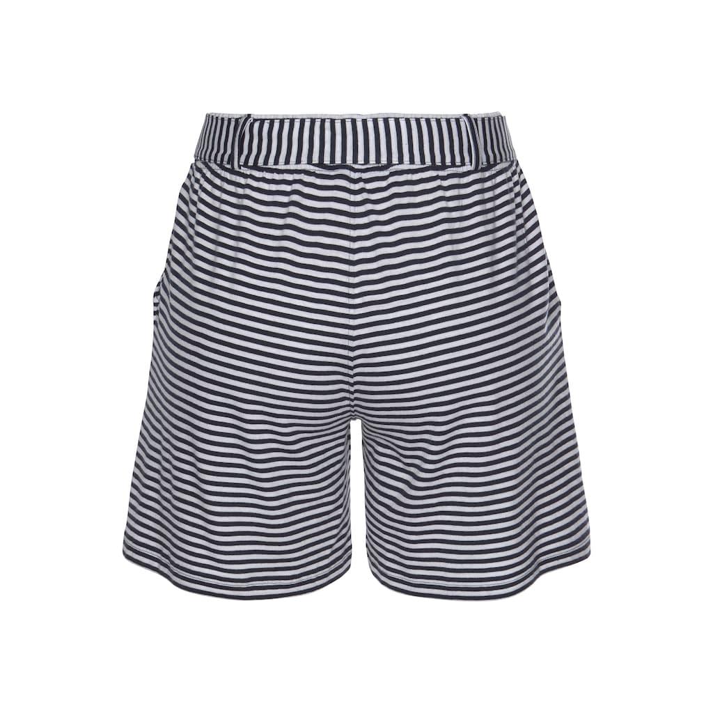 TOM TAILOR Polo Team Shorts, in verschiedenen Dessins mit Bindegürtel