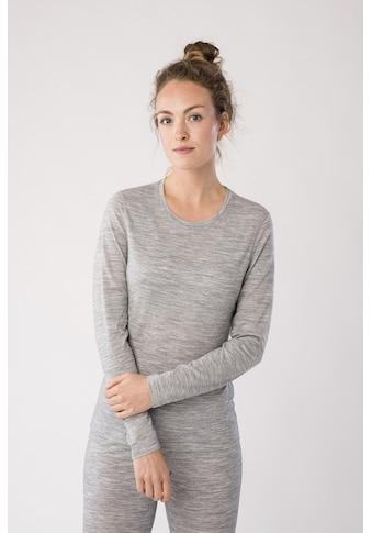 SUPER.NATURAL Langarmshirt »W BASE CREW NECK 230«, pflegeleichter Merino-Materialmix kaufen
