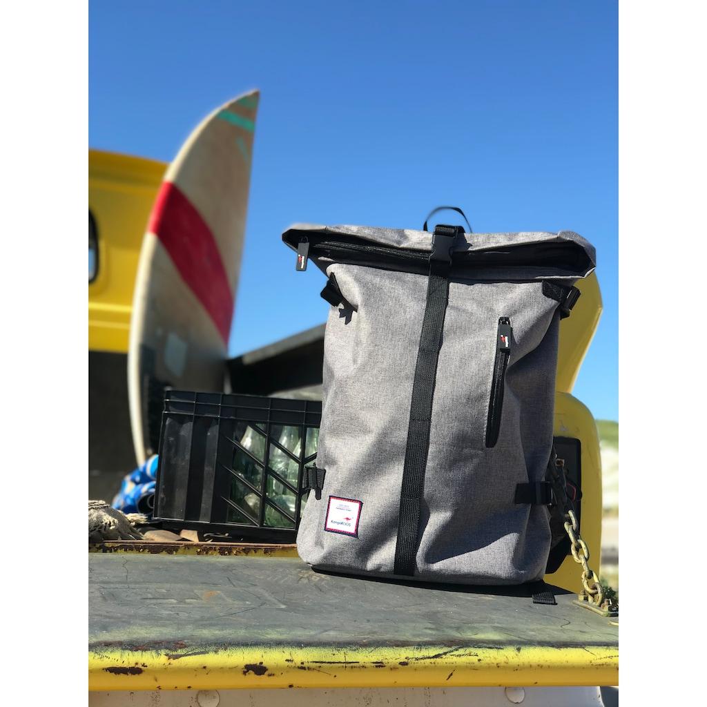 KangaROOS Cityrucksack, mit viel Stauraum und modischem Rolltop