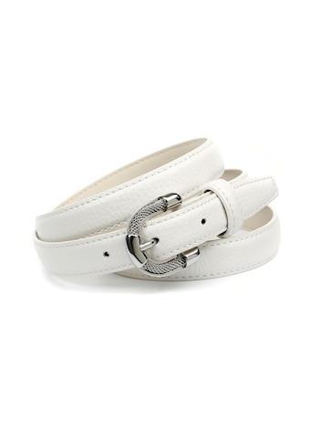 Anthoni Crown Ledergürtel, in schmaler Form, schick und elegant kaufen
