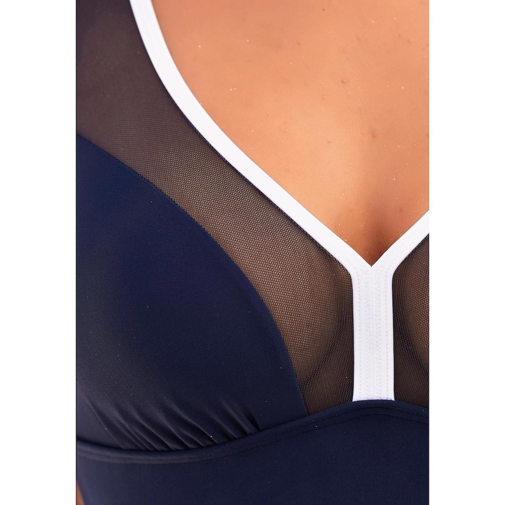 LASCANA Badeanzug, mit Mesh-Einsatz