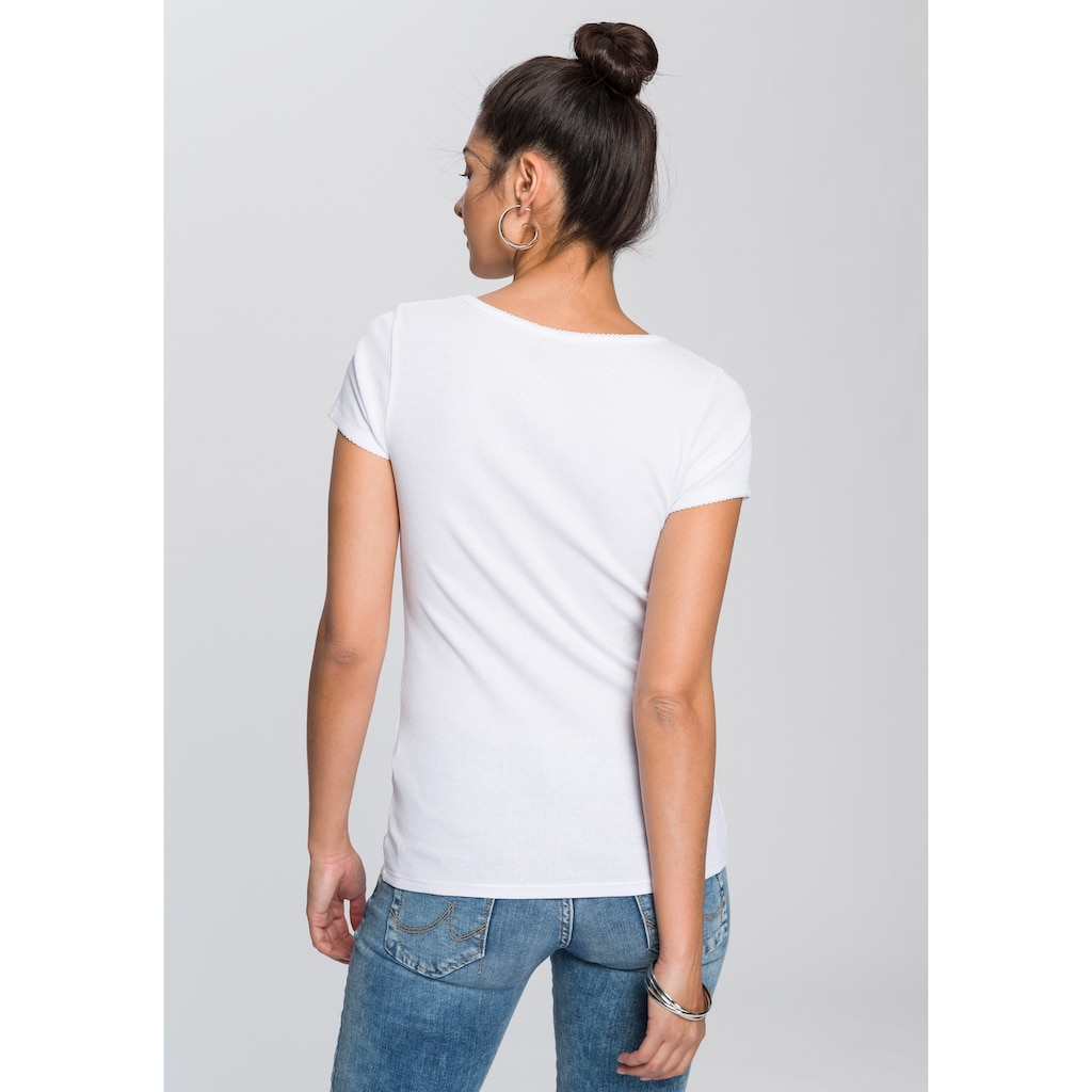 AJC T-Shirt, im Doppelpack mit Wellenkante