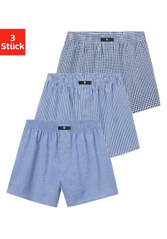 H.I.S Webboxer, (3 St.), aus gewebter Hemden-Qualität kaufen