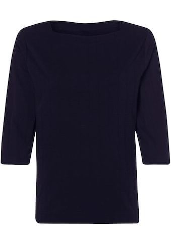 Olsen T-Shirt, mit Strukturmuster in Karo kaufen