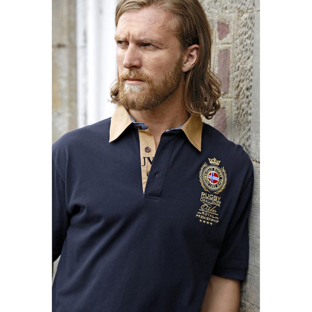 Jan Vanderstorm Poloshirt »JOAKIM«, mit edler Bruststickerei