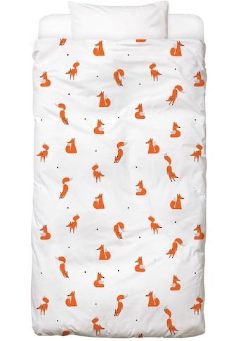 Juniqe Bettwäsche »Winter Foxes«, In vielen weiteren Designs erhältlich kaufen