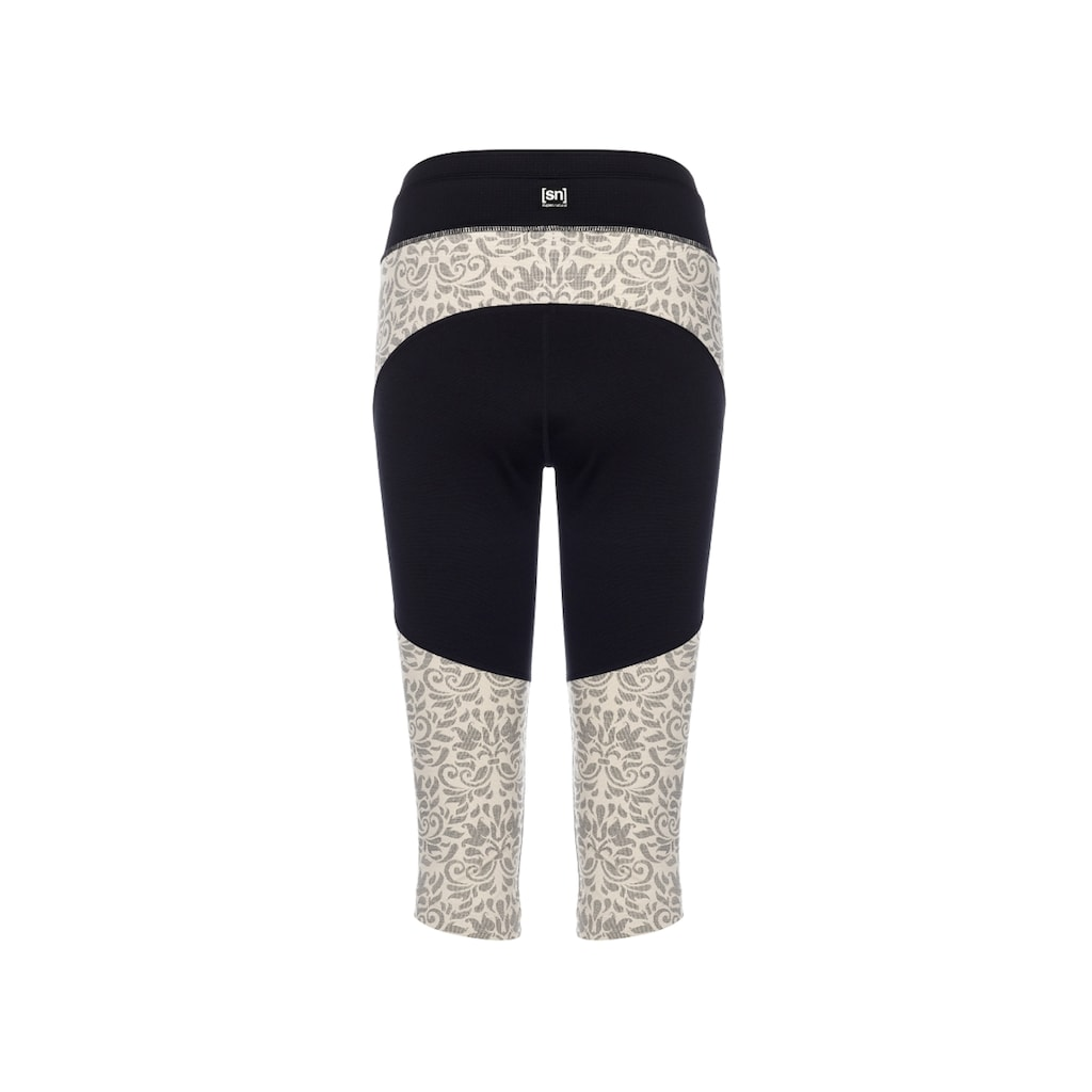 SUPER.NATURAL Funktionstights »W Motion ¾ Tights«, atmungsaktiver Merino-Materialmix
