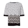 Olsen Print-Shirt, mit Allover-Print und Knotendetail am Saum