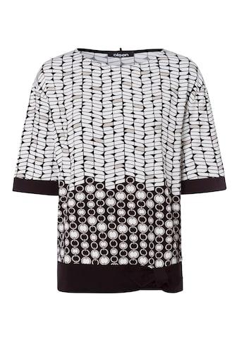 Olsen Print-Shirt, mit Allover-Print und Knotendetail am Saum kaufen