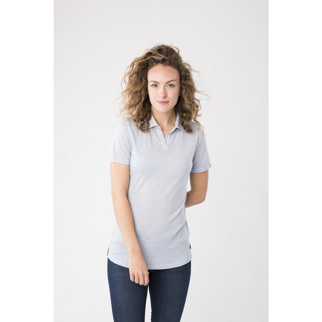 SUPER.NATURAL Poloshirt »W EVERYDAY POLO«, pflegeleichter Merino-Materialmix
