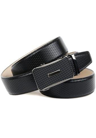 Anthoni Crown Ledergürtel, mit Schliesse in Karbon-Design kaufen
