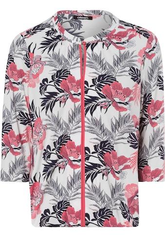 Olsen Print-Shirt, mit tropischem Allover-Druck und Stehkragen kaufen