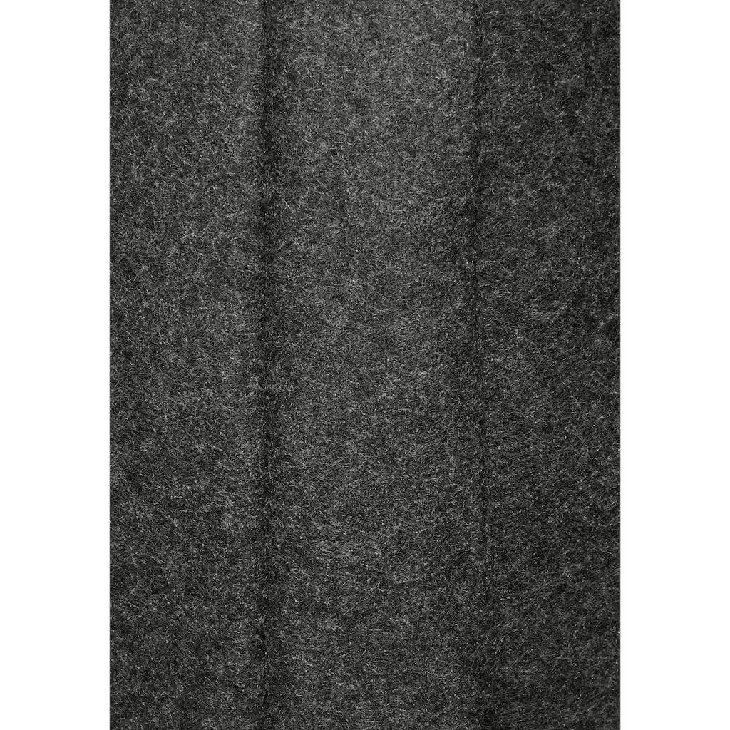 AJC Strickmantel, aus kuscheliger Fleecequalität und Samt-Kordeln