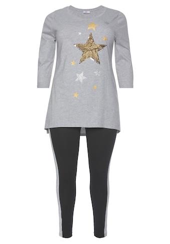 Flashlights Vokuhila-Shirt »Glitzer Sterne«, Mit Glitzereffekten kaufen