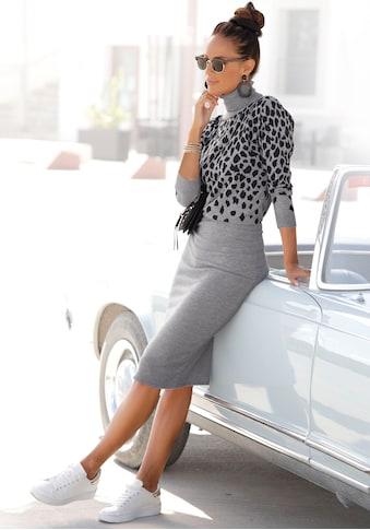 LASCANA Strickkleid, mit Leomuster kaufen