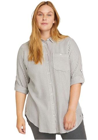 TOM TAILOR MY TRUE ME Hemdbluse, aus knitterarmen Twill kaufen