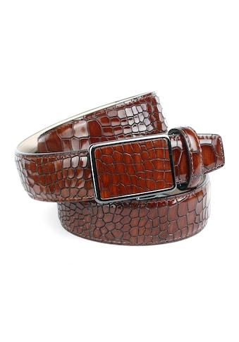 Anthoni Crown Ledergürtel, mit Reptilienmuster kaufen