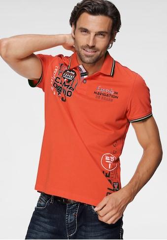 CAMP DAVID Poloshirt, mit markanten Prints kaufen
