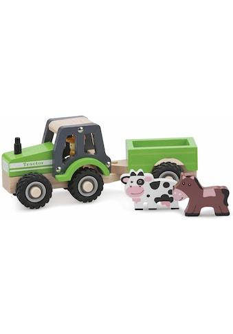 New Classic Toys® Spielzeug-Traktor »Little Driver - Holztraktor«, mit Anhänger kaufen
