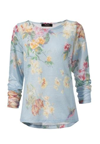 Aniston CASUAL Langarmshirt, mit grossflächigem Blumendruck und Vögeln kaufen