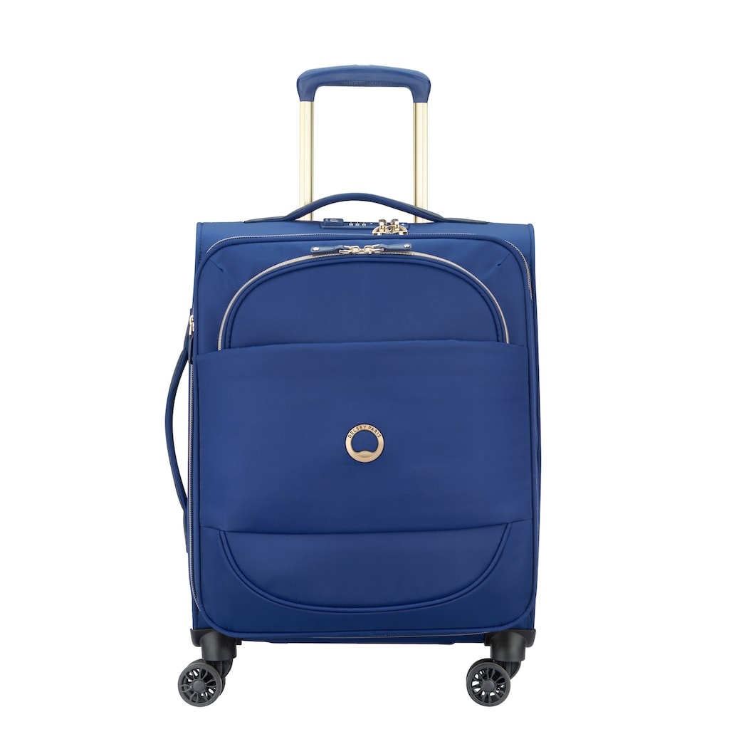 Delsey Weichgepäck-Trolley »Montrouge, 55 cm, Blue«, 4 Rollen