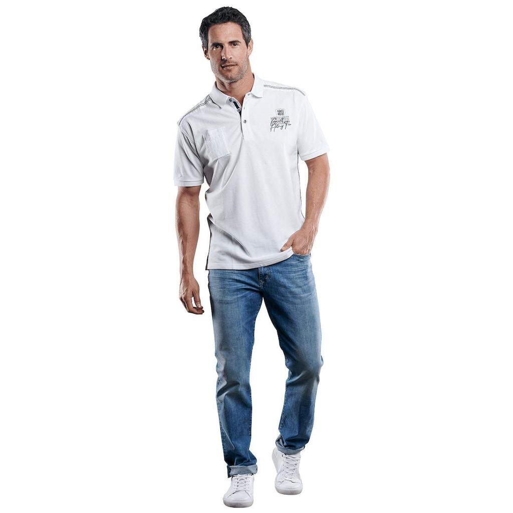 Engbers Stylisches Poloshirt mit Applikation